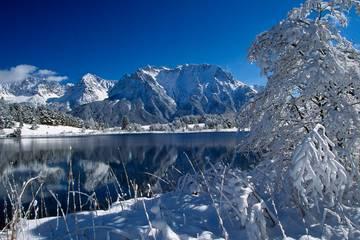 Mittenwald in Bayern im Winter
