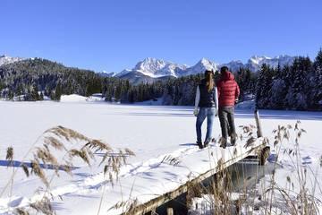 Winterwandern in Mittenwald im Karwendel