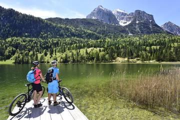 Mountainbiken in Mittenwald im Karwendel