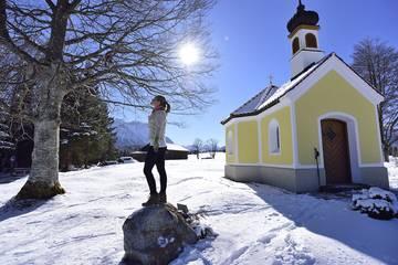 Winterwandern in Mittenwald, Karwendel
