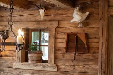 Gaststube im Alpengasthof Gröbl-Alm