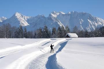 Langlaufen in Mittenwald, Karwendel