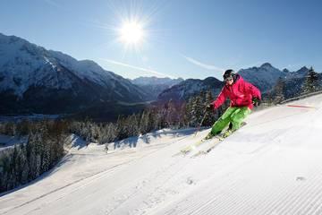 Skifahren in Mittenwald, Karwendel