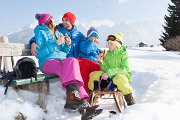 Winterurlaub mit der Familie im Karwendel